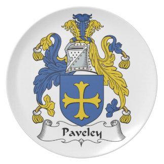 Escudo de la familia de Paveley Plato De Cena