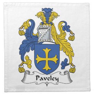 Escudo de la familia de Paveley Servilleta De Papel