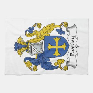 Escudo de la familia de Paveley Toallas De Cocina