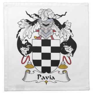 Escudo de la familia de Pavía Servilletas Imprimidas