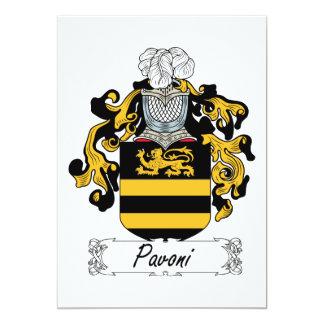 Escudo de la familia de Pavoni Anuncio Personalizado