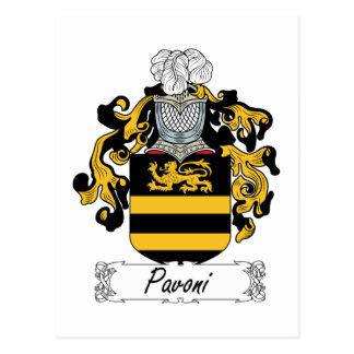 Escudo de la familia de Pavoni Postal