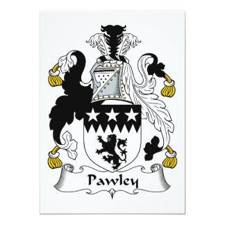"""Escudo de la familia de Pawley Invitación 5"""" X 7"""""""