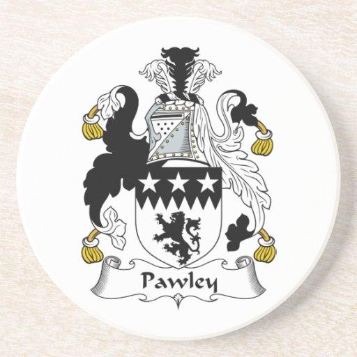 Escudo de la familia de Pawley Posavasos Diseño