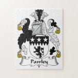 Escudo de la familia de Pawley Rompecabeza Con Fotos