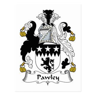 Escudo de la familia de Pawley Tarjetas Postales