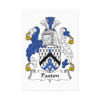 Escudo de la familia de Paxton Lienzo Envuelto Para Galerías