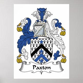Escudo de la familia de Paxton Póster