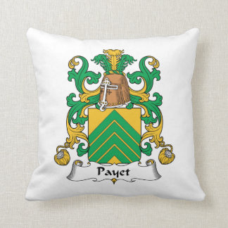 Escudo de la familia de Payet Almohadas