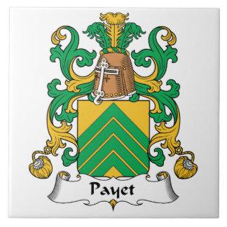 Escudo de la familia de Payet Azulejo Cuadrado Grande