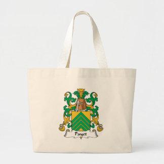 Escudo de la familia de Payet Bolsa Tela Grande