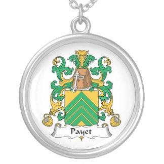 Escudo de la familia de Payet Colgante Redondo