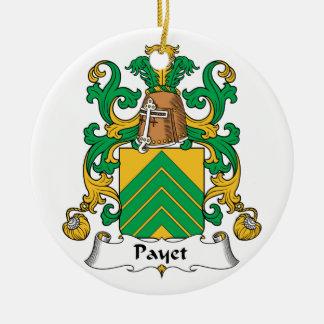 Escudo de la familia de Payet Adorno Redondo De Cerámica