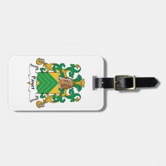 Escudo de la familia de Payet Etiquetas Bolsas
