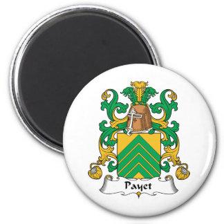 Escudo de la familia de Payet Imán Redondo 5 Cm