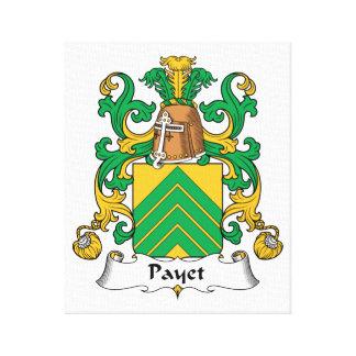 Escudo de la familia de Payet Impresión En Tela