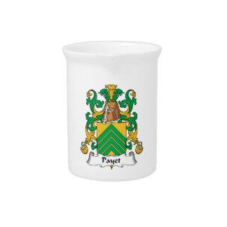 Escudo de la familia de Payet Jarra Para Bebida