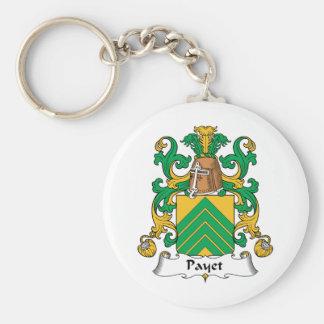 Escudo de la familia de Payet Llavero Redondo Tipo Pin