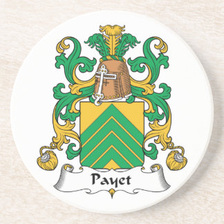 Escudo de la familia de Payet Posavasos Diseño