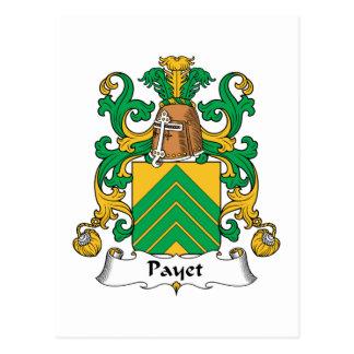 Escudo de la familia de Payet Postales
