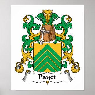 Escudo de la familia de Payet Póster