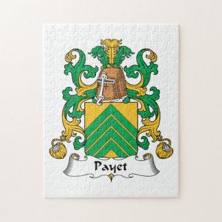 Escudo de la familia de Payet Rompecabeza Con Fotos