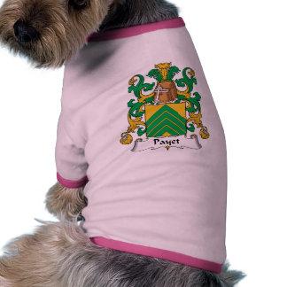Escudo de la familia de Payet Camiseta Con Mangas Para Perro