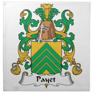 Escudo de la familia de Payet Servilletas Imprimidas