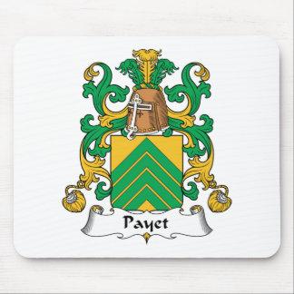 Escudo de la familia de Payet Alfombrillas De Raton