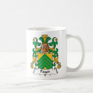 Escudo de la familia de Payet Taza Básica Blanca