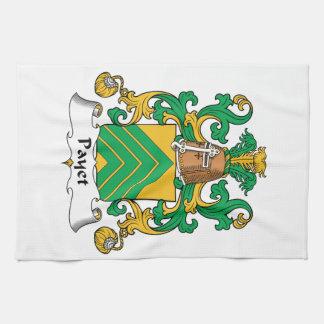 Escudo de la familia de Payet Toalla De Cocina