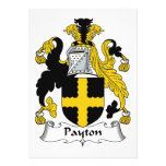 Escudo de la familia de Payton Invitacion Personal