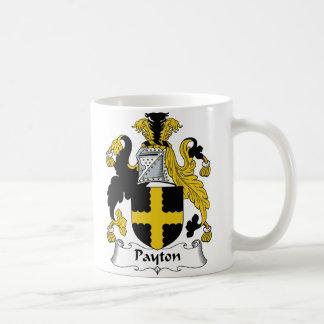Escudo de la familia de Payton Taza Básica Blanca