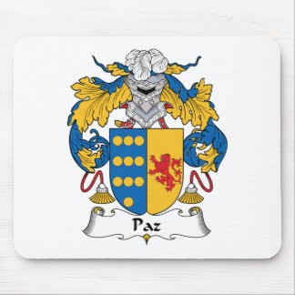 Escudo de la familia de Paz Alfombrilla De Ratones