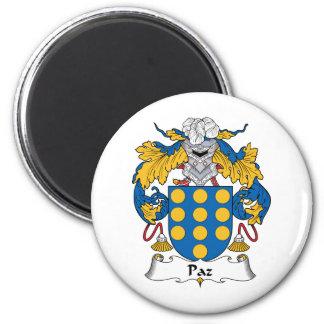 Escudo de la familia de Paz Imán Redondo 5 Cm