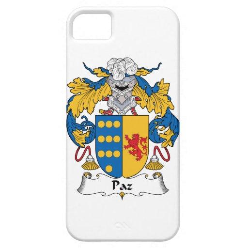 Escudo de la familia de Paz iPhone 5 Funda