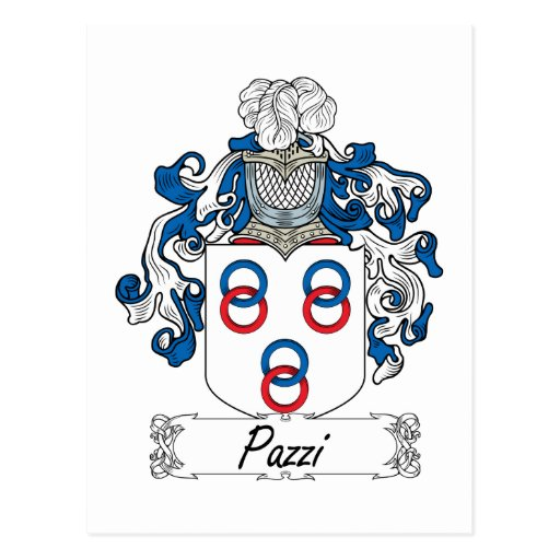 Escudo de la familia de Pazzi Postal