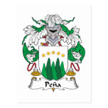 Escudo de la familia de Peaa Postales