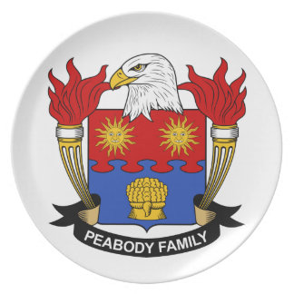 Escudo de la familia de Peabody Plato De Comida