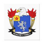 Escudo de la familia de Peachey Impresion En Lona