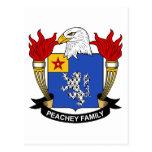 Escudo de la familia de Peachey Postal