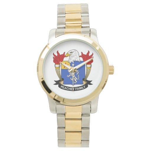 Escudo de la familia de Peachey Reloj