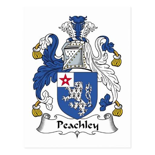 Escudo de la familia de Peachley Postal