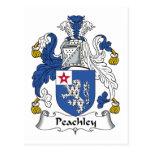Escudo de la familia de Peachley Postales