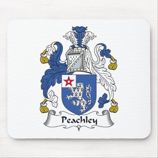 Escudo de la familia de Peachley Tapete De Ratón