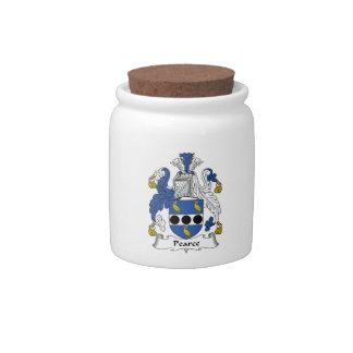Escudo de la familia de Pearce Platos Para Caramelos