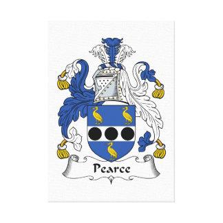 Escudo de la familia de Pearce Impresion En Lona