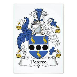 Escudo de la familia de Pearce Invitación 12,7 X 17,8 Cm