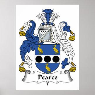 Escudo de la familia de Pearce Poster