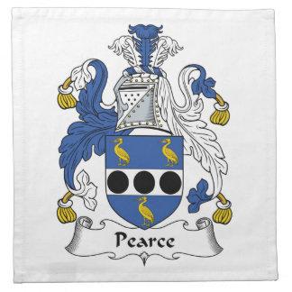 Escudo de la familia de Pearce Servilleta De Papel